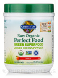 RAW Organic Perfect Food® Green Superfood Powder, Apple Flavor - 8.14 oz (231 Grams)
