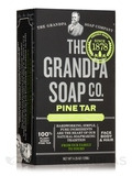 Pine Tar Bar Soap Bath Size - 4.25 oz (120 Grams)