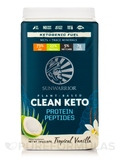 Plant-Based Clean Keto Protein Peptides, Tropical Vanilla - 1.59 lb (720 Grams)