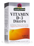 Liquid Vitamin D-3 Drops 4000 IU - 0.5 fl. oz (15 ml)
