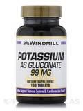 Potassium as Gluconate 99 mg 100 Tablets