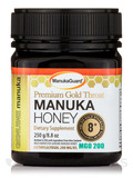 Premium Gold Throat Manuka Honey 8+ MGO 200 - 8.8 oz (250 Grams)
