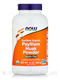 Organic Psyllium Husk Powder - 12 oz (340 Grams)