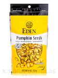 Pumpkin Seeds, Dry Roasted & Salted, Organic - 4 oz (113 Grams)