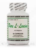 Pure L-Leucine 500 mg 50 Capsules