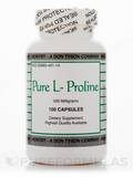 Pure L-Proline 500 mg 100 Capsules