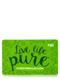 PureFormulas Gift Card - $10 Gift Card by Mail