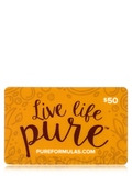 PureFormulas Gift Card - $50 Gift Card by Mail