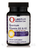 Quantum Vitamin D3 & K2 - 30 Plant-Source Capsules