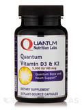 Quantum Vitamin D3 & K2 - 30 Plant-Source Capsules