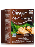 NOW® Real Tea - Queeze Ease Tea Bags, Ginger Digestive Herbal Blend - Box of 24 Packets