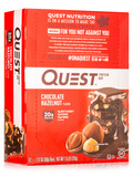 Quest Bar® Chocolate Hazelnut Protein Bar - Box of 12 Bars (2.12 oz / 60 Grams Each)