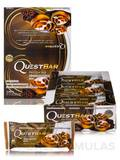 Quest Bar® Cinnamon Roll Flavor Protein Bar - Box of 12 Bars (2.12 oz / 60 Grams Each)