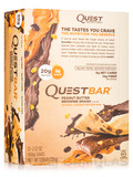 Quest Bar® Peanut Butter Brownie Smash Protein Bar - Box of 12 Bars (2.12 oz / 60 Grams Each)
