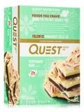 Quest Bar® Peppermint Bark Flavor Protein Bar - Box of 12 Bars (2.12 oz / 60 Grams Each)