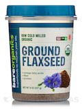 Raw Cold Milled Organic Ground Flaxseed - 8 oz (227 Grams)