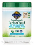 Raw Organic Perfect Food® 100% Organic Wheat Grass Juice, Unflavored - 8.46 oz (240 Grams)
