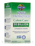 RAW Probiotics Colon Care 50 Billion - 30 Vegetarian Capsules