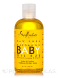 Raw Shea Butter Baby Oil Rub - 8 fl. oz (236 ml)