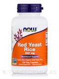 Red Yeast Rice 600 mg - 120 Vegetarian Capsules