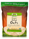 NOW Real Food® - Organic Rolled Oats - 24 oz (680 Grams)