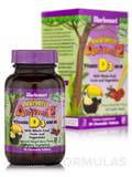 Super Earth® Rainforest Animalz® Vitamin D3 400 IU, Mixed Berry Flavor - 90 Animal-Shaped Chewables