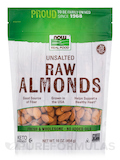 NOW Real Food® - Raw Almonds, Unsalted - 16 oz (454 Grams)