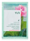 Shower Sheet, Large Body Wipe - Rose & Cucumber - 1 Single Packet