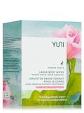 Shower Sheets, Large Body Wipes - Rose & Cucumber - Box of 12 Single Packets