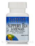 Slippery Elm Lozenges Strawberry 150 mg - 24 Count