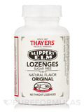 Slippery Elm Lozenges - Sugar Free, Natural Original Flavor - 100 Throat Lozenges