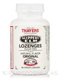 Slippery Elm Lozenges - Sugar Free, Natural Original Flavor - 100 Throat Lozenges