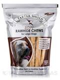 Soft Rawhide Chews for Large Dogs - 24 Chews