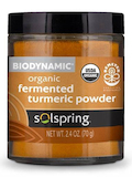 Solspring™ Biodynamic® Organic Fermented Turmeric Powder - 2.4 oz (70 Grams)