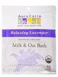 Soothing Organic Milk & Oat Bath with Relaxing Lavender Essential Oil 1.75 oz (49.6 Grams)