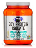 NOW® Sports - Soy Protein Isolate (Natural Vanilla) - 2 lbs (907 Grams)
