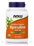 Spirulina (Certified Organic) 500 mg 180 Tablets