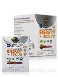 Sport Organic Plant-Based Energy + Focus, Sugar Free, Blackberry Cherry - Box of 12 Packets (0.2 oz