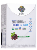 Sport Organic Plant-Based Performance Protein Bar, Chocolate Mint - Box of 12 Bars (2.5 oz / 70 Gram