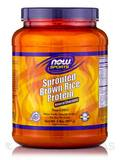 NOW® Sports - Sprouted Brown Rice Protein, Natural Chocolate Flavor - 2 lbs (907 Grams)