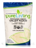 Sprouted Grain Millet Flour (Whole Grain) - 24 oz (680 Grams)