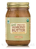 Sprouted Organic Raw Almond Butter, Unsalted - 16 oz (453 Grams)