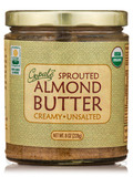 Sprouted Organic Raw Almond Butter, Unsalted - 8 oz (228 Grams)