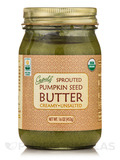 Sprouted Organic Raw Pumpkin Seed Butter, Unsalted - 16 oz (453 Grams)