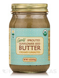 Sprouted Organic Raw Sunflower Seed Butter, Unsalted - 16 oz (453 Grams)