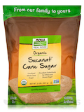 NOW® Real Food - Sucanat Cane Sugar (Certified Organic) - 2 lbs (907 Grams)
