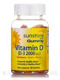 Sunshine In A Gummy Vitamin D-3 2000 I.U. (Assorted Flavors) - 60 Count