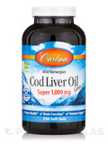 Cod Liver Oil Gems SUPER 1000 mg 250 Soft Gels