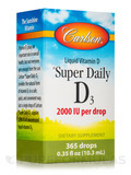Super Daily D3 2000 IU - 365 Drops (0.36 fl. oz / 10.6 ml)