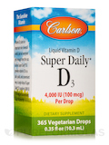 Super Daily D3 4000 IU - 365 Drops (0.36 fl. oz / 10.6 ml)